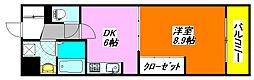 布施・ハイライン510号室[5階]の間取り