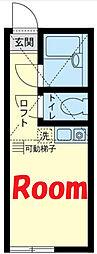 京急本線 弘明寺駅 徒歩18分の賃貸アパート 2階ワンルームの間取り