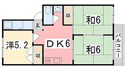 サンハイツ別府[103号室]の間取り