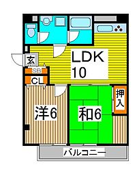ロイヤルクレスト北浦和[3階]の間取り
