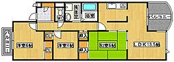 セレストコート浜寺[3階]の間取り