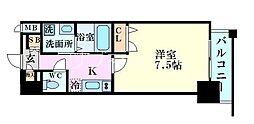 アーバンパーク梅田ウエスト 3階1Kの間取り