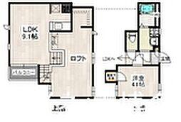 JR鹿児島本線 千早駅 徒歩7分の賃貸アパート 2階1SLDKの間取り