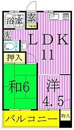 関原ロイヤルハイツ1[2階]の間取り