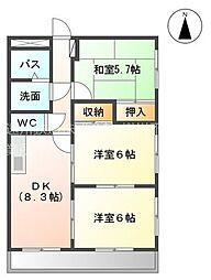 レジデンス下垂木[1階]の間取り