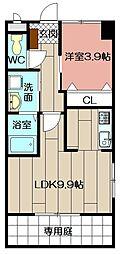 (仮)北方三丁目ペット可新築アパート[106号室]の間取り