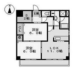 コンフォート高畑 (コンフォートタカバタ)[4階]の間取り