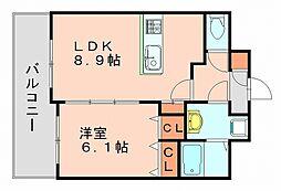 ディオリス[6階]の間取り