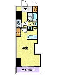 JR東海道本線 横浜駅 徒歩8分の賃貸マンション 5階ワンルームの間取り