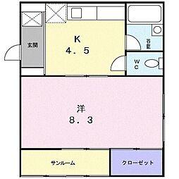 ドゥハウス81[105号室]の間取り