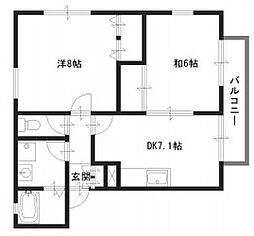 パディ飾磨II番館[2階]の間取り