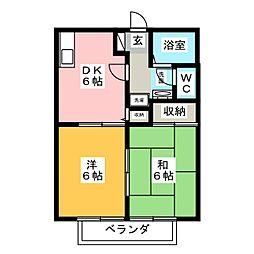 ウィステリア[1階]の間取り