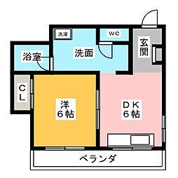 藤原マンション[2階]の間取り