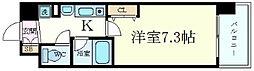 レジュールアッシュ梅田イースト[1404号室]の間取り