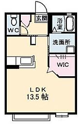 恋路ガーデンプレイスA棟[A201号室]の間取り