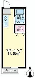 神奈川県横浜市南区六ツ川2の賃貸アパートの間取り