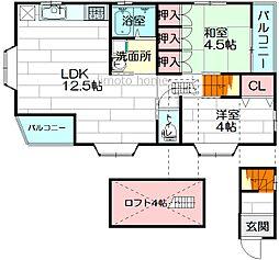 [一戸建] 大阪府箕面市桜井2丁目 の賃貸【/】の間取り