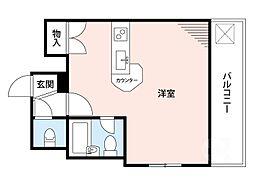 江坂東OMパレス[4階]の間取り