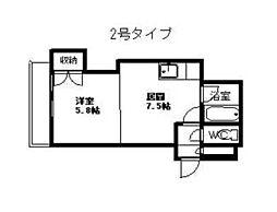 円山北町ハイム[10階]の間取り