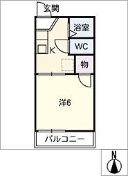 ハイツMiLe[2階]の間取り