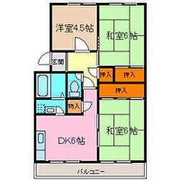 グリーンプラザ3棟[3階]の間取り