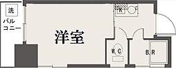 東京都新宿区西新宿6丁目の賃貸マンションの間取り
