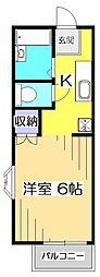 ネオファミーユ橋本[1階]の間取り