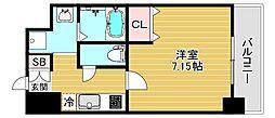 JPレジデンス大阪城東3 3階1Kの間取り