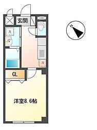 プランドール上中里[1階]の間取り
