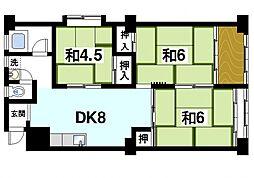 三和マンション[5階]の間取り