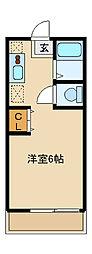 神奈川県川崎市麻生区王禅寺西7丁目の賃貸アパートの間取り