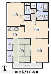 ハミング諏訪B[1階]の間取り