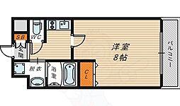 JR大阪環状線 京橋駅 徒歩8分の賃貸マンション 5階1Kの間取り