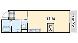 みらいハウス[203号室]の間取り