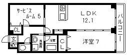 HERITAGE徳庵[2階]の間取り