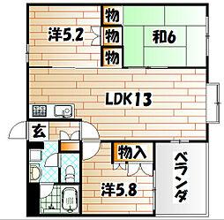 アメニス桜山寺A棟[3階]の間取り