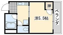ローブル尾崎[3B号室]の間取り