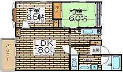 ゴールデンラピス[3階]の間取り