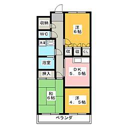 シズコーポ[1階]の間取り