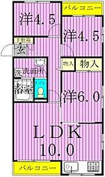 ヤマユウ第8ビル[501号室]の間取り