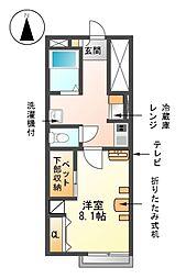 愛知県海部郡蟹江町学戸5丁目の賃貸アパートの間取り