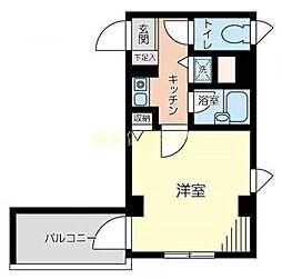 神奈川県横浜市保土ケ谷区神戸町の賃貸マンションの間取り