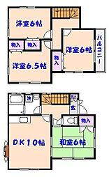 [一戸建] 千葉県市川市曽谷1丁目 の賃貸【/】の間取り