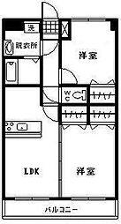 ユーミー波島[102号室]の間取り