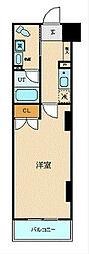 ブライトヒルレジデンス横浜 4階1Kの間取り