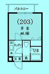 ソネット武蔵新城[2階]の間取り