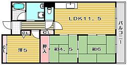 ボンメゾンフタバ[203号室]の間取り