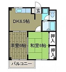 コスモス町田A棟[2階]の間取り