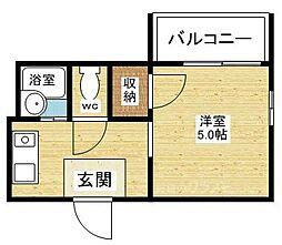 クレイン新大阪[2階]の間取り