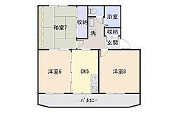 秋山ハイツA[303号室]の間取り
